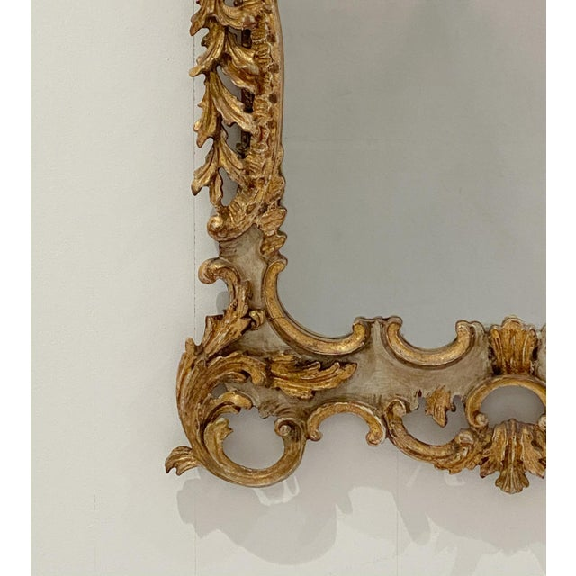 Vintage Italian Gilt and Painted Mirror For Sale In San Francisco - Image 6 of 7