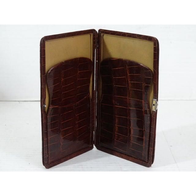 Animal Skin Genuine Crocodile Skin Card Case For Sale - Image 7 of 7