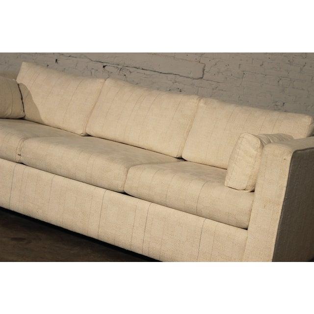 Mid-Century White Tuxedo Style Sleeper Sofa - Image 3 of 7