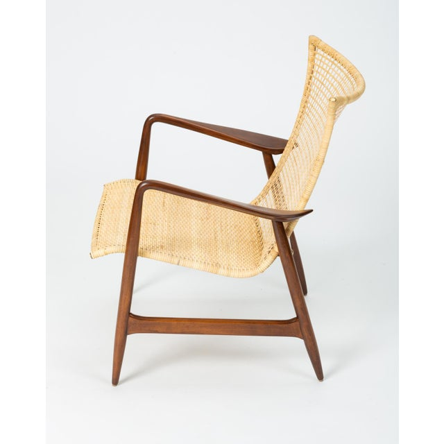 Selig Lounge Chair With Cane Seat by Ib Kofod-Larsen for Selig For Sale - Image 4 of 13
