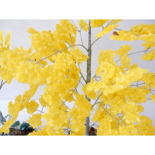 Yellow Quartz & Semi Precious Stone Trees - Pair - Image 7 of 8