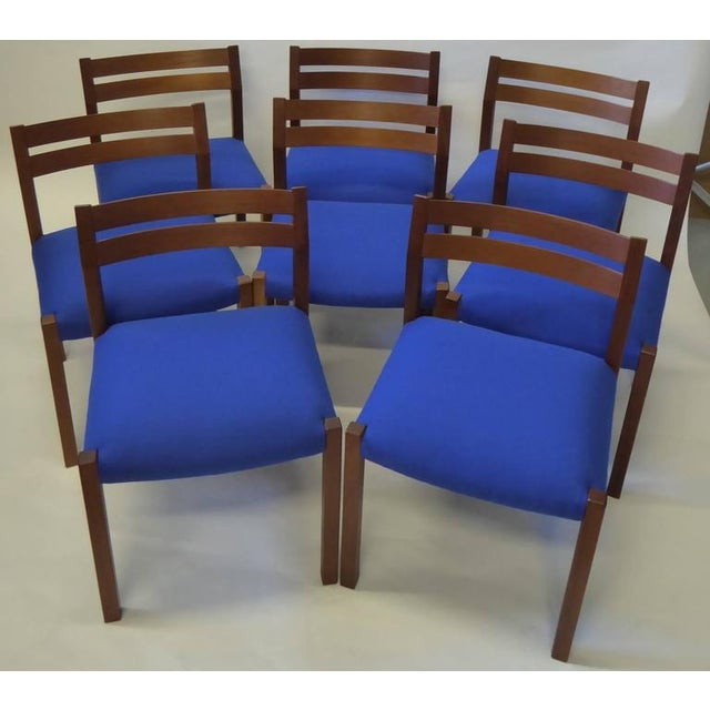 Eight 1974 Jørgen Henrik Moller Modern Teak Dining Chairs - Image 3 of 11