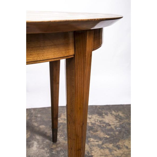 Deco Sycamore Sunburst Dining Table by Dominique - Image 5 of 5
