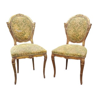French Country Antique Accent Chairs - A Pair For Sale