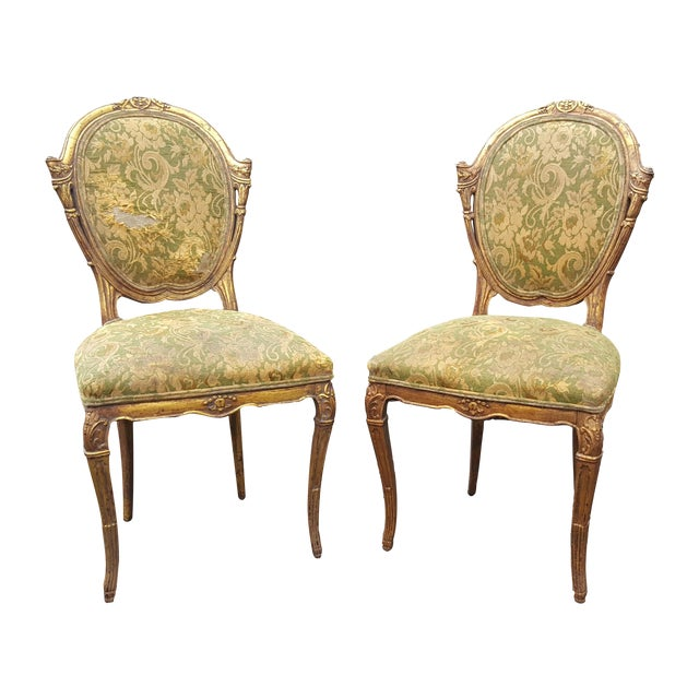 French Country Antique Accent Chairs - A Pair For Sale - French Country Antique Accent Chairs - A Pair Chairish