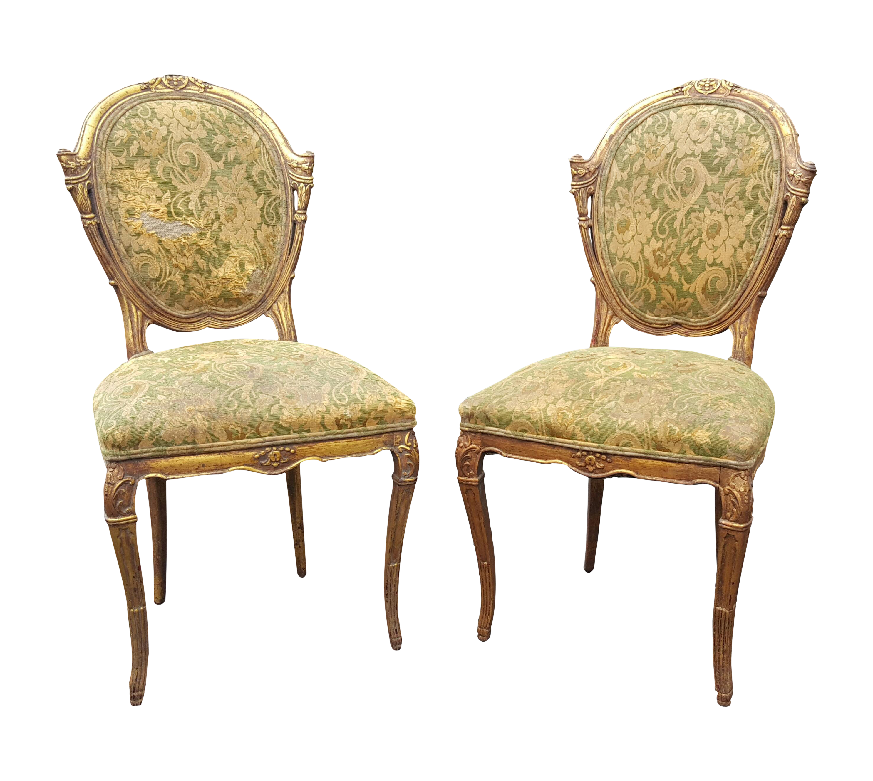 French Country Antique Accent Chairs   A Pair For Sale