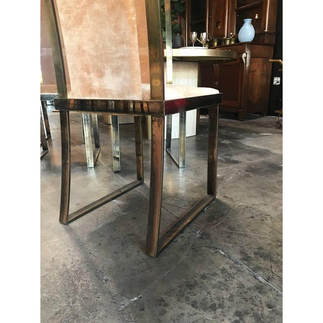Brass Italian Chairs in Massive Brass, 1960, Set of Four For Sale - Image 7 of 10