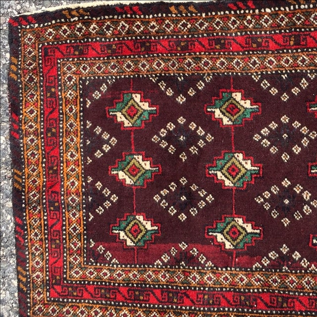 Red Patterned Persian Rug - 1′11″ × 2′9″ - Image 4 of 7