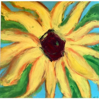 Original Sunflower Acrylic Painting on Canvas For Sale