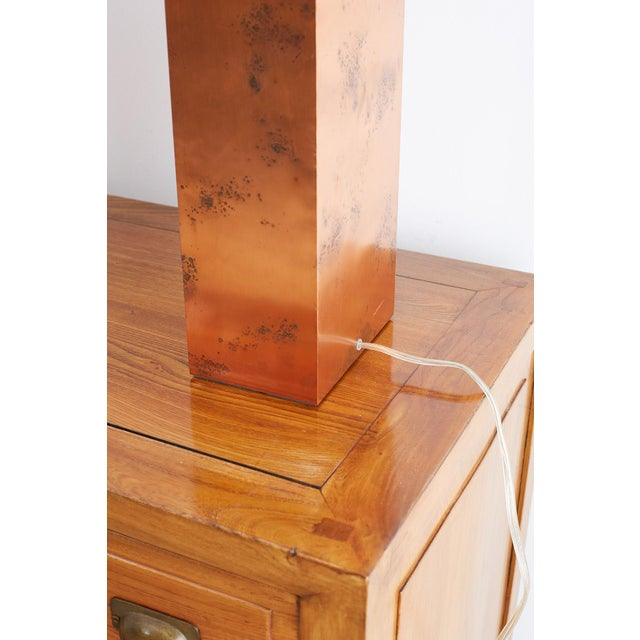 Patinated Copper Lamps by Arteriors Tanner Kenzie For Sale - Image 12 of 13
