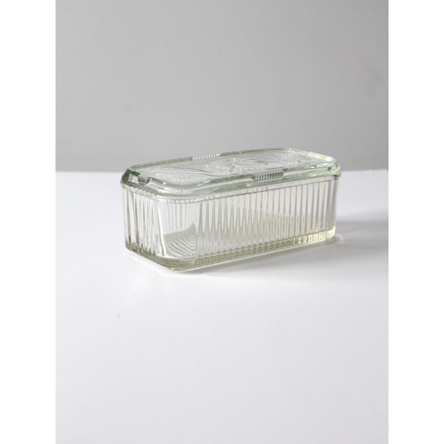 Glass Depression Glass Refrigerator Dish For Sale - Image 7 of 9