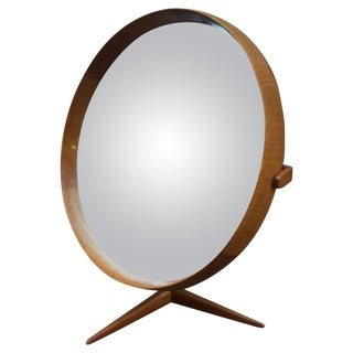 Uno & Osten Kristiansson Teak for Luxus Vanity Mirror For Sale