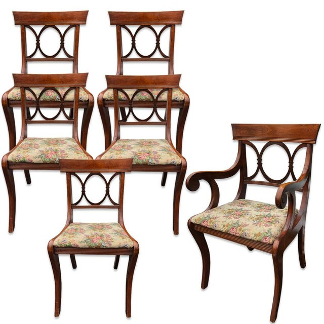 Antique Tell City Chair Co. Mahogany Country Dining Chairs - Set of 6 For Sale - Image 10 of 10