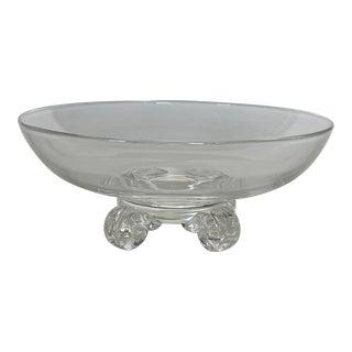 1980s Steuben Studio Crystal Bowl For Sale