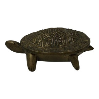 Antique Brass Turtle Box For Sale
