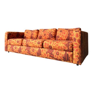 Original Fabric Vintage Sofa