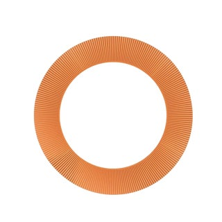 Kartell Ludovica & Roberto Palomba All Saints Tangerine Round Mirror For Sale