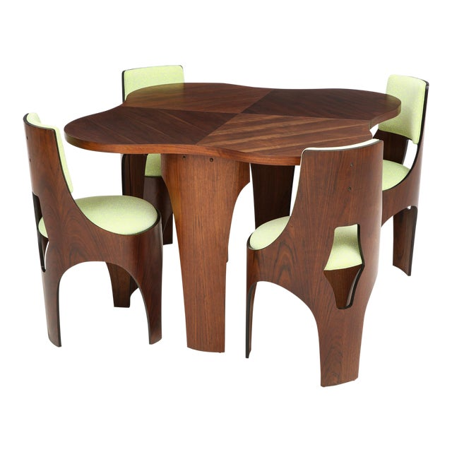 Henry Glass Cylindra Dining Set For Sale