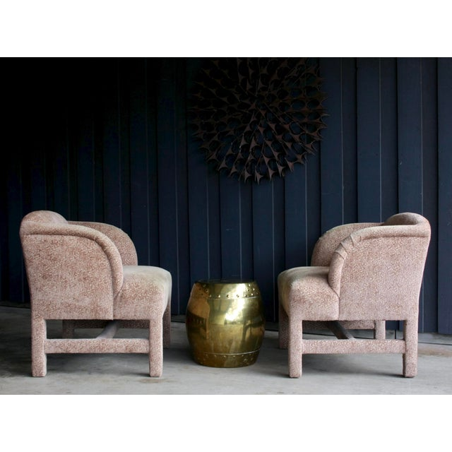 Milo Baughman 1980's Contemporary Chairs, a Pair For Sale - Image 4 of 13