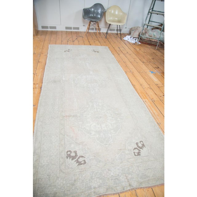 "Distressed Oushak Runner - 4'7"" X 10'8"" - Image 5 of 9"