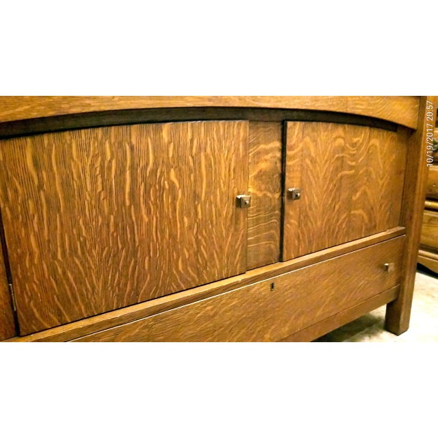 Empire Antique Empire Tiger Oak Buffet For Sale - Image 3 of 7