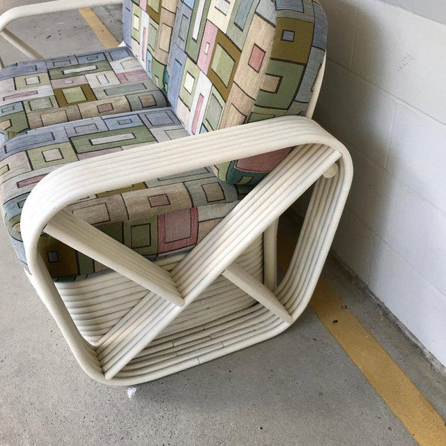 Two Rattan Sofa Frames by Paul Frankl, in Dove White For Sale - Image 12 of 13