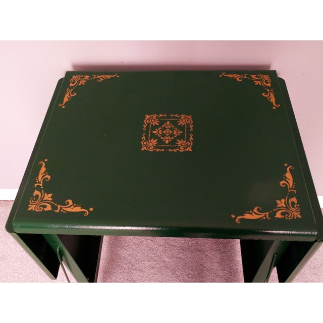Cole Steel Green & Gold Typewriter Stand - Image 4 of 11