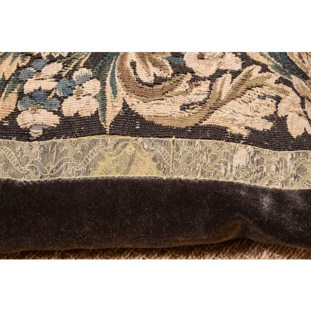 Early 21st Century 18th Century Large Lumbar Tapestry Pillow For Sale - Image 5 of 6