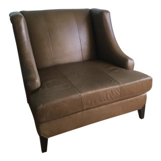 Italian Leather Ashleigh Oversized Chair & a Half, Made by Taylor King
