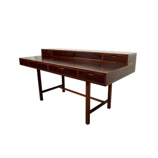 Danish Modern Rosewood Desk Flip Top Desk For Sale