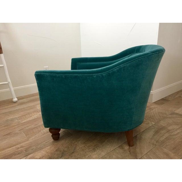 2010s Modern Anthropologie Teal Velvet Holloway Chair For Sale - Image 5 of 8