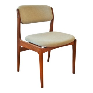 1970s Vintage Danish Modern Teak Dining Chair For Sale