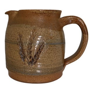 Handcrafted Glazed Ceramic Pitcher For Sale