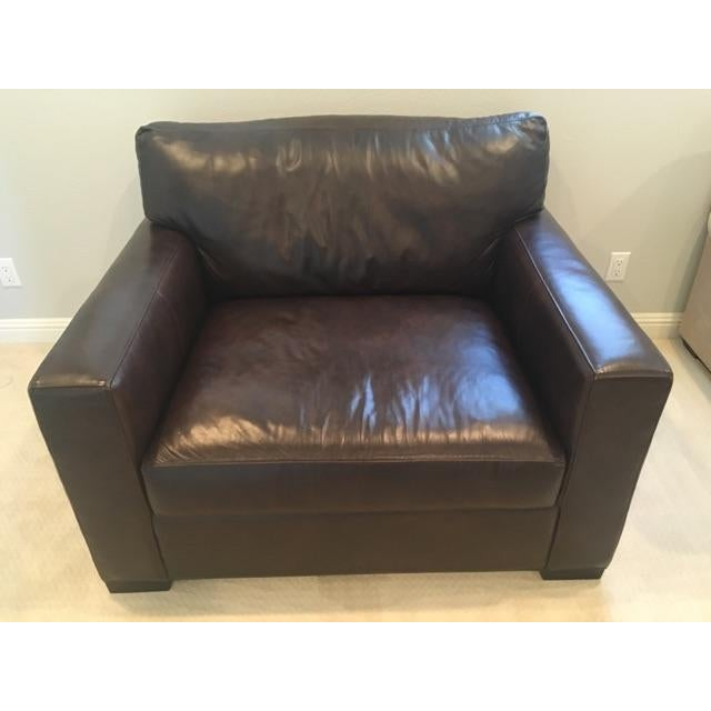 Crate & Barrel Axis II Leather Chair - Image 3 of 8