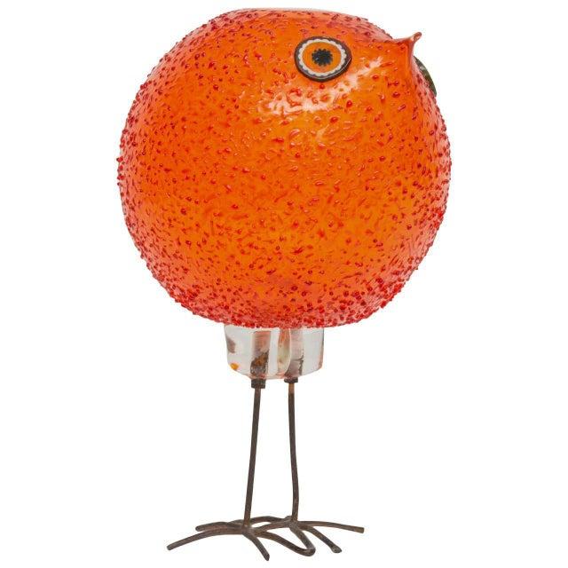 """Orange Alessandro Pianon for Vistosi """"Pulcini"""" Glass Bird Sculpture For Sale - Image 8 of 8"""