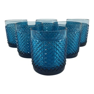 19th Century Blue Baccarat Tumblers - Set of 6
