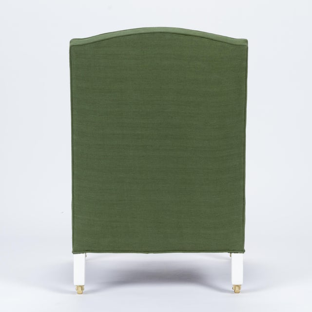 Casa Cosima Casa Cosima Sintra Chair in Verdure Linen, a Pair For Sale - Image 4 of 9