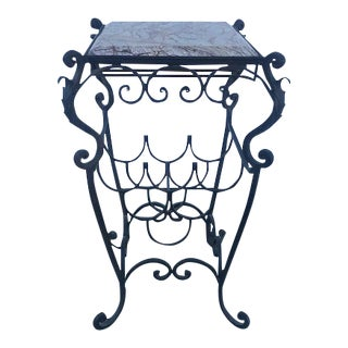 Tuscan Wrought Iron Wine Table For Sale