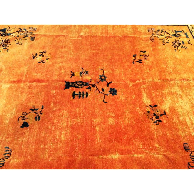 Art Deco Late 19th Century Antique Chinese Peking Rug - 8′ × 9′5″ For Sale - Image 3 of 10