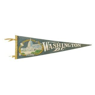 Vintage Martha Walsh Washington D.C. Felt Pennant Flag