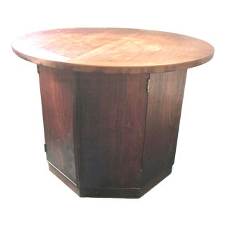 1960s Mid-Century CIrcular Living Room End Table For Sale