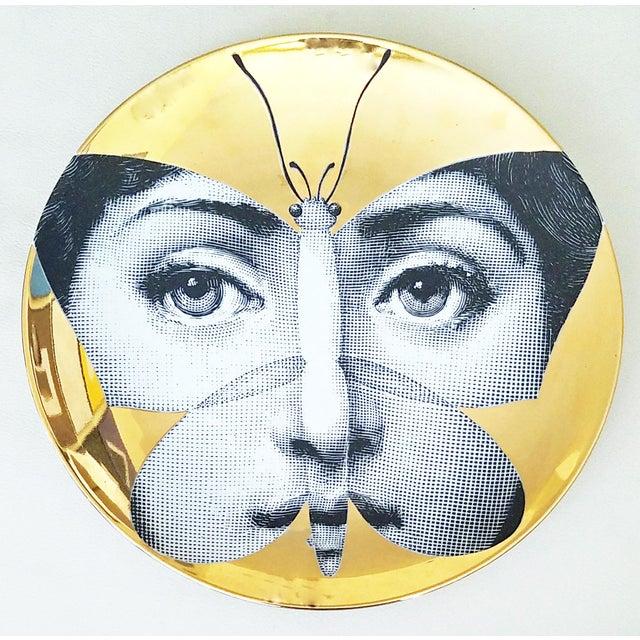 Fornasetti Gold Tema E Variazioni Plate - Image 2 of 4