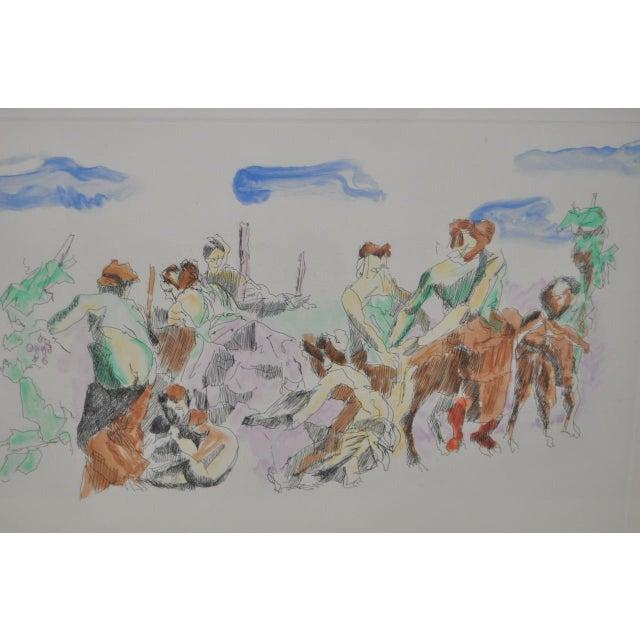 Impressionism C. 1961 Jacques Villon Original Color Aquatint For Sale - Image 3 of 9
