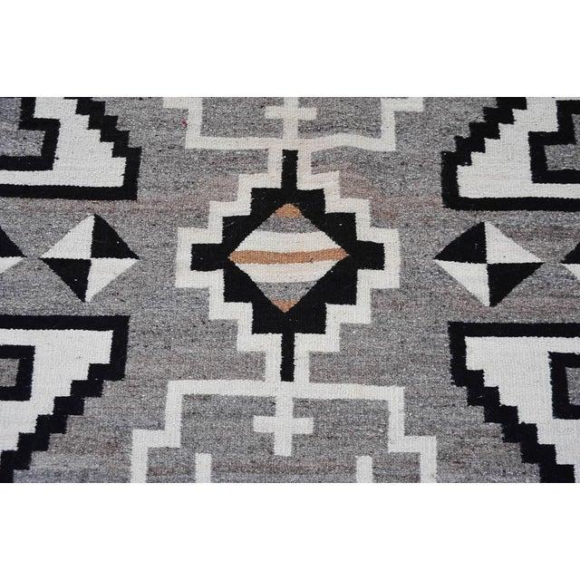 "Vintage 1920s Navajo Geometric Rug - 3′6″ x 73"" - Image 9 of 11"