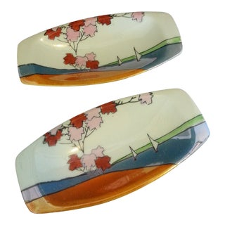 Japanese Mid Century Condiment Dishes - a Pair For Sale