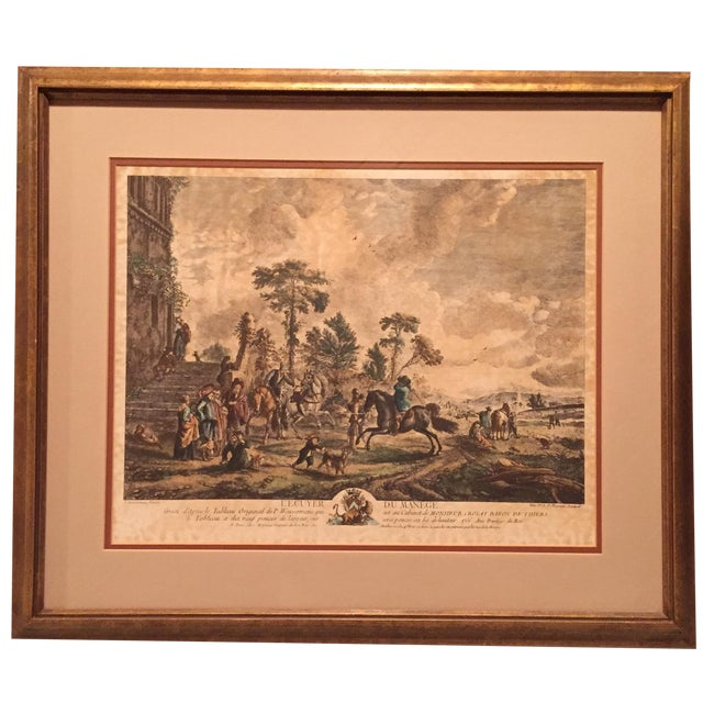 French Village with Horsemen Framed Print - Image 1 of 11