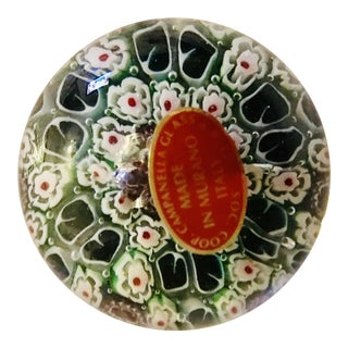 Millefiori Campanella Murano Glass Paperweight For Sale