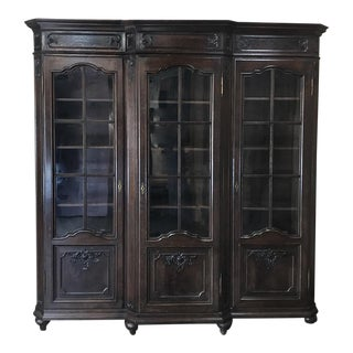 19th Century Liegeoise Step-Front Bookcase ~ Vitrine For Sale