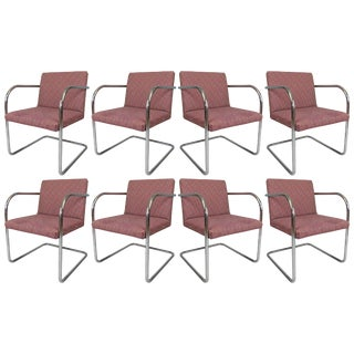 1970s Thonet Vintage Chrome Dining Chairs - Set of 8 For Sale