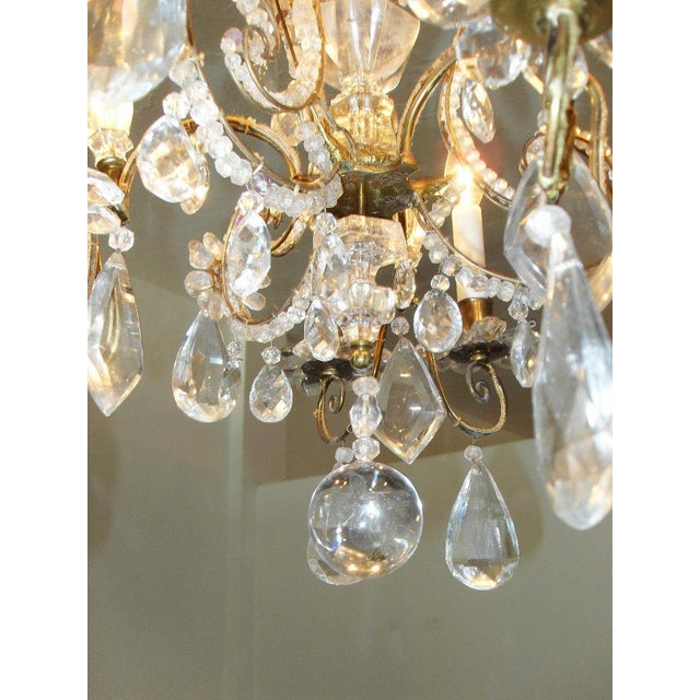 19th Century Maison Bagues Rock Crystal Chandelier For Sale - Image 9 of 10